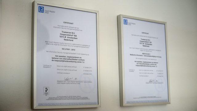 ISO 27001:2013 certificaat