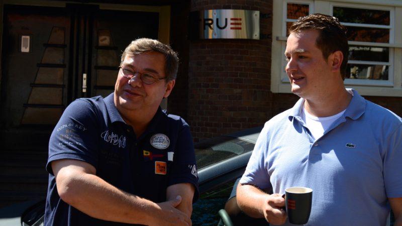 Martin van Multrix en Menno van True voor HQ van True