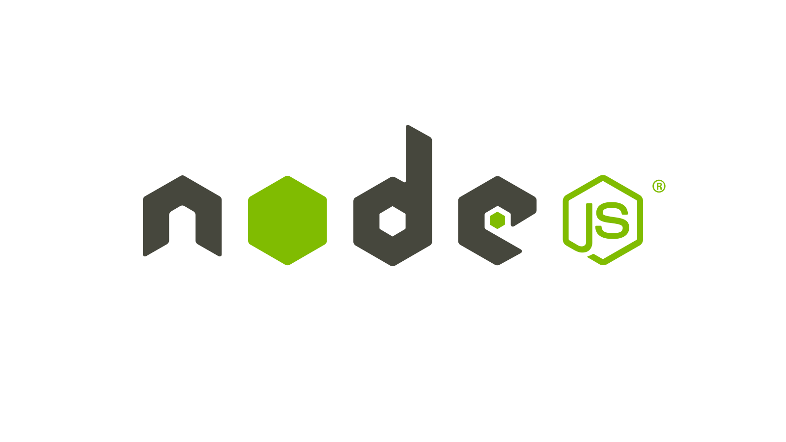 Node.js logo hosting door True