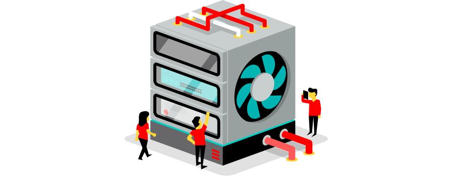Breng jouw servers onder in een gedeelde colocation rack