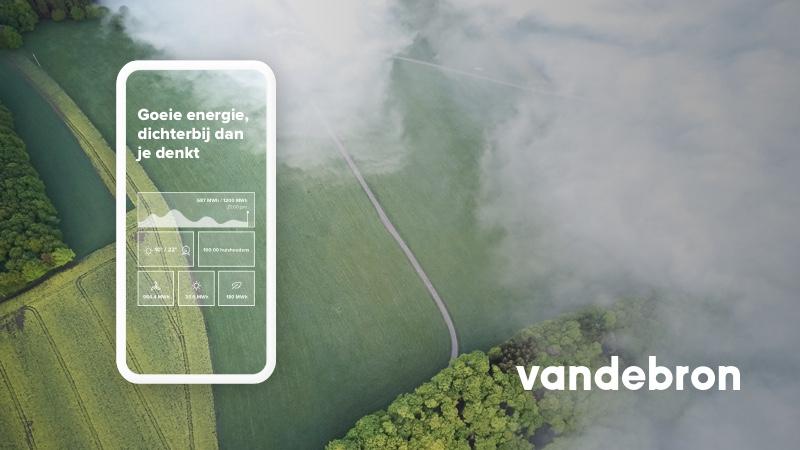 UX en front-end design voor energieleverancier Vandebron