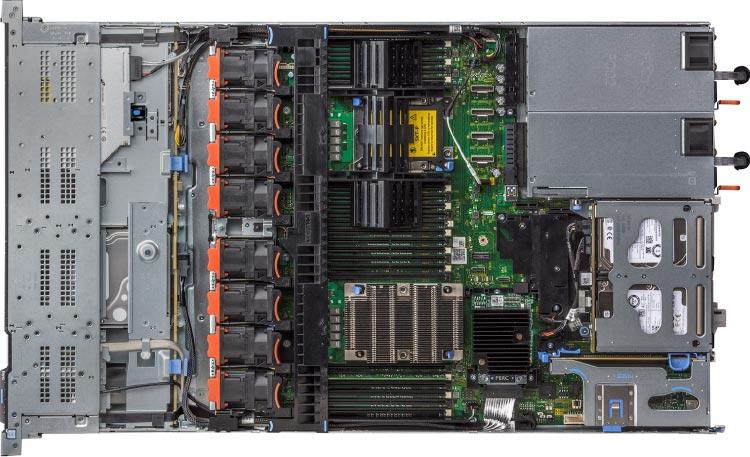Binnenkant van een Dell EMC Dedicated Server