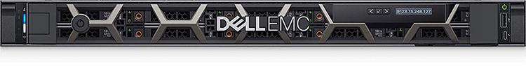 Voorkant van een Dell EMC server
