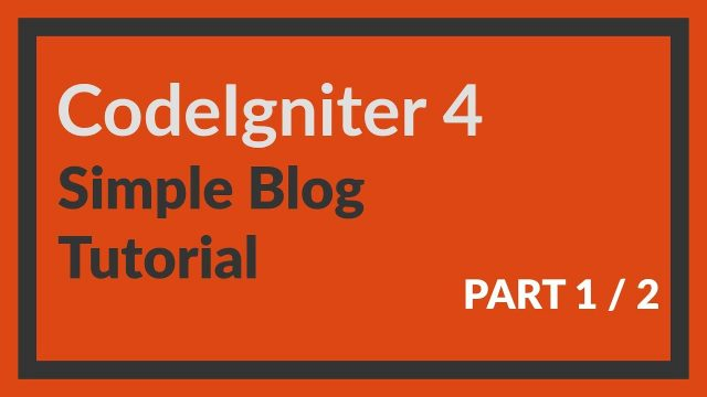 Codeigniter 4 tutorial